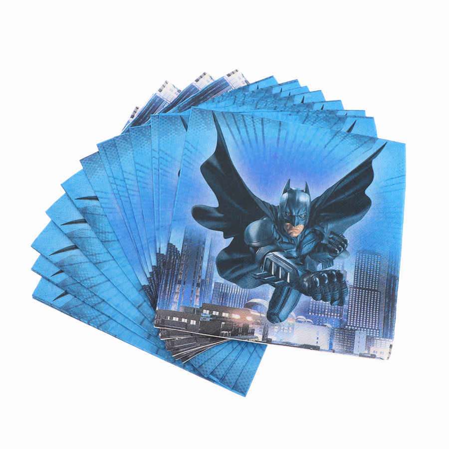 Batman Tema fotos Placa Conjunto Cartão Do Natal da Palha Criança Feliz Festa de Aniversário Decoração Suprimentos