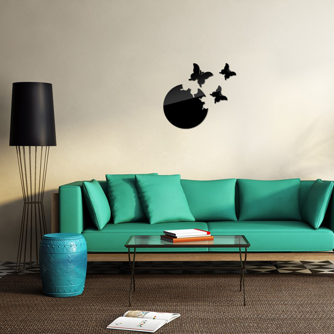 2016 Home Decor Wall Sticker Stickers Diy Kitchen Acrylic Mirror ...