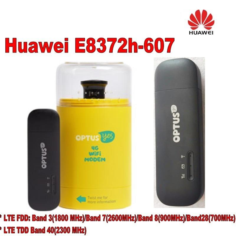 Huawei Déverrouiller E8372h-607 150 Mbps USB WiFi 4G Modem plus 2 pcs antenne et usb adaptateur