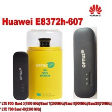 Huawei Unlock E8372h-607 150Mbps USB WiFi 4G Modem plus 2pcs antenna and usb adapter