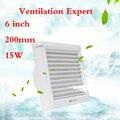 Стеклянный оконный вентилятор 6 дюймов бесшумный сильный 150 мм настенный водонепроницаемый вытяжной вентилятор для ванной комнаты