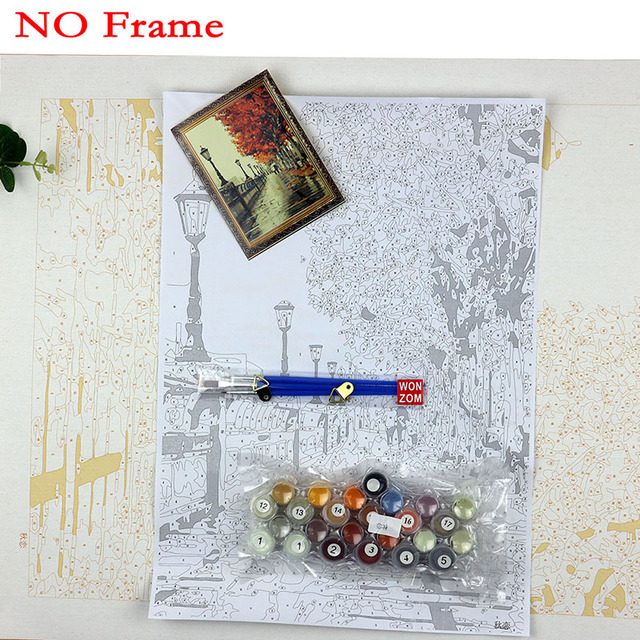 WEEN Wall Pictures Paint by Numbers DIY Landscape Decoracion Hogar Art Oil Painting Coloring by Numbers on Canvas 2017 New Gift