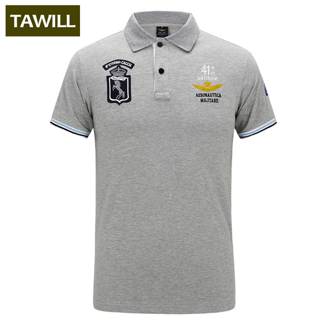TAWILL 2017 New Military Slim Polo shirt men Air force one Prints Designs army soldier brand clothing Asian size 087