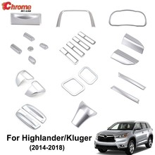 Voor Toyota Highlander Kluger 2014 2015 2016 2017 2018 Chrome Interieur Switch Knop Cover Air Vent Trim Decoratie Auto Styling(China)
