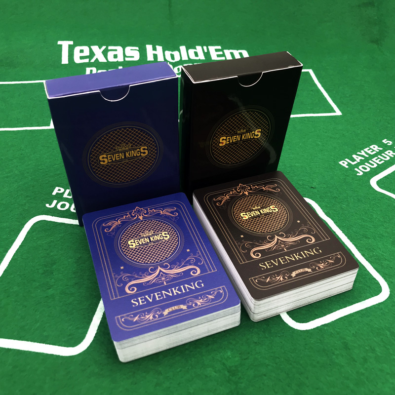 10Sets/Lot Texas Hold'em Poker Cards Royal Poker Blue&Black Waterproof Frosting Poker Star Plastic Playing Card Game Board Games
