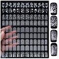Del Arte del clavo de Las Etiquetas Engomadas, 108 unids/hoja de Diseño de Leopardo Mariposa 3d Decoración de Uñas Consejos, DIY Belleza Manicura Suministros de uñas Herramientas