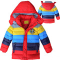 2016 New Boys Jacket Fashion Children Ultra Light Down Coat Children Down, Children Stripe Hooded Down Jacket Children's Coat