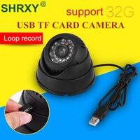 Security Dome Camcorder IR USB MINI CCTV Camera Video TF Memory Card Storage Night Vision Auto