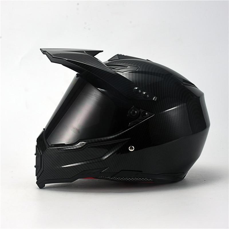 Carbon Painting Full Face Motorcycle Helmet Racing Helmet Motocross Off Road Kask Casco De Moto Motociclista DOT Approved