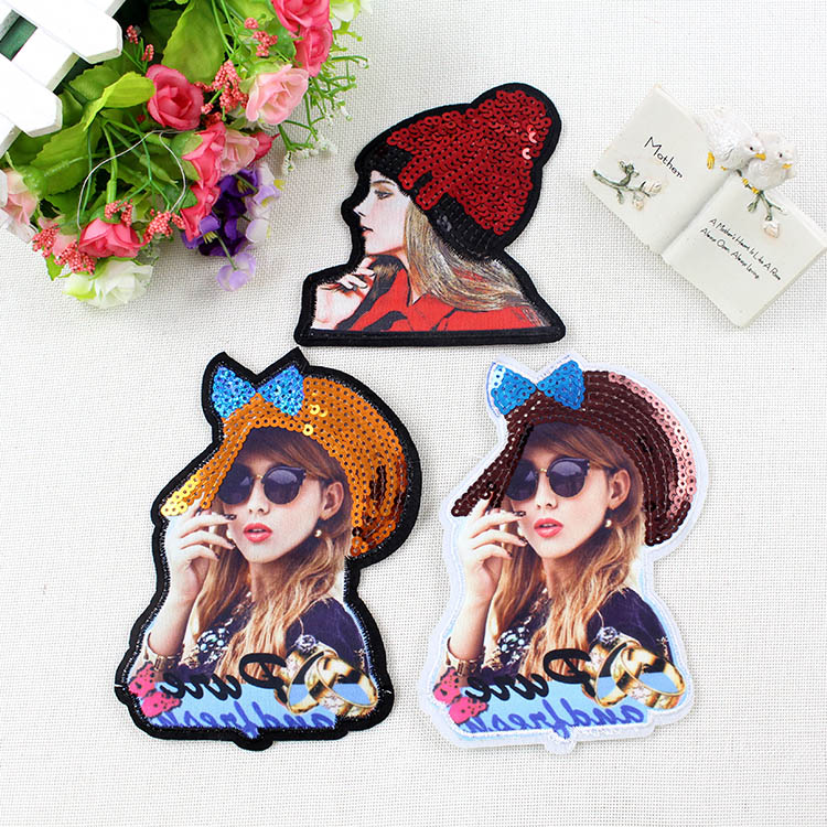 BT341 10 Pcs/Lot Newest Africa Wholesale High Quality Different Kind of Girls Patch Sew or Iron on Cloth Free Shipping For Cloth