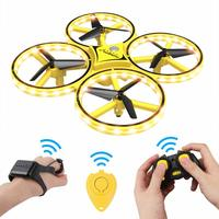 Zhenwei Mini Smart Drone Watch RC Quadcopter Flyer Infrared Sensor Control Mini RC Drones Helicopter Gift for Kids Boys