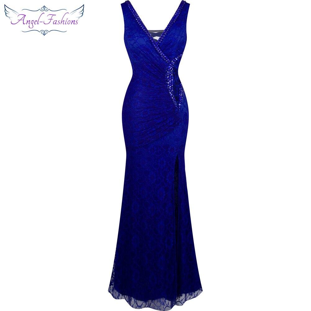 Модное Вечернее платье с v-образным вырезом и бусинами, украшенное кружевом, 232