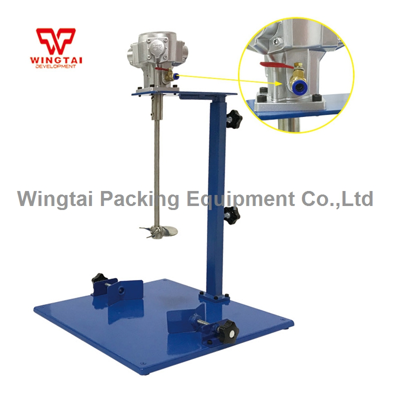 EA320 Manual Lifting Pneumatic Ink Mixing Machine magnetic mixing ink roller isolated ring