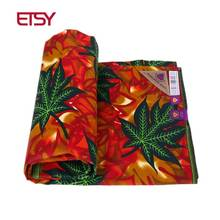 hot deal buy 2018 new fashion high quality black african fabric 100% polyester fabric african wax material 6 yards print windproof pl542