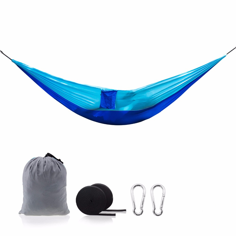20 Color 2 People Portable Parachute Hammock Camping Survival Garden Hiking Hunting Leisure Hamac Travel outdoor Hamak 300 200cm 2 people hammock 2018 camping survival garden hunting leisure travel double person portable parachute hammocks