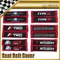 Car-styling 2 unids/par tela cubierta del cinturón de seguridad universal jdm para toyota mazda tipo r jp f1 fuerza mazdasped trd