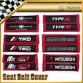 Carro-styling 2 pcs/par assento de tecido tampa da correia tipo r jp jdm universal para toyota mazda f1 força mazdasped trd