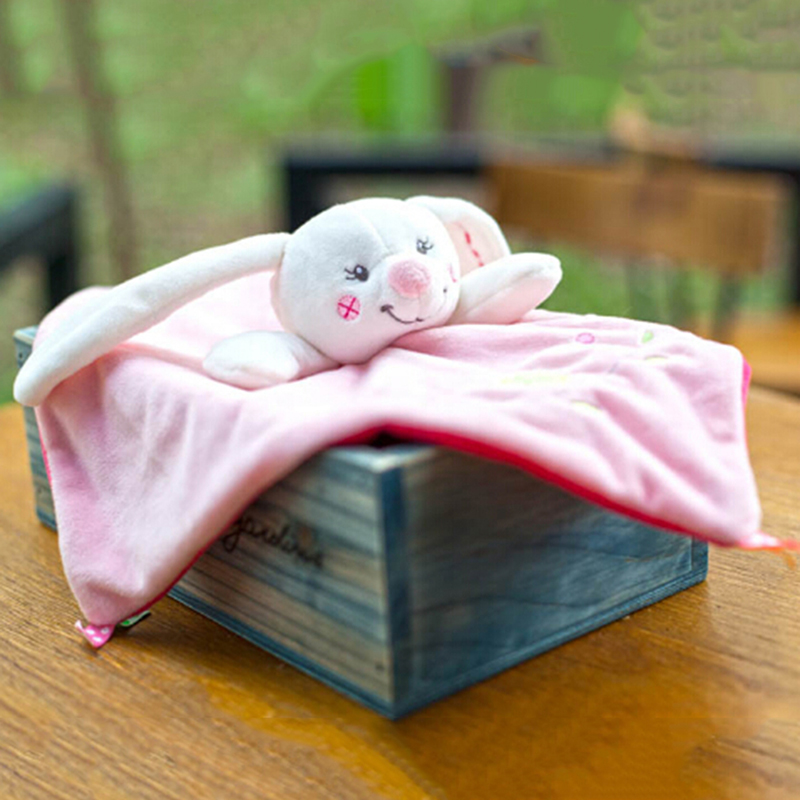 Baby Rattles Hand Bell Plush Rabbit Cute Infant Baby Crib Stroller Toy Ring bell Infant  ...
