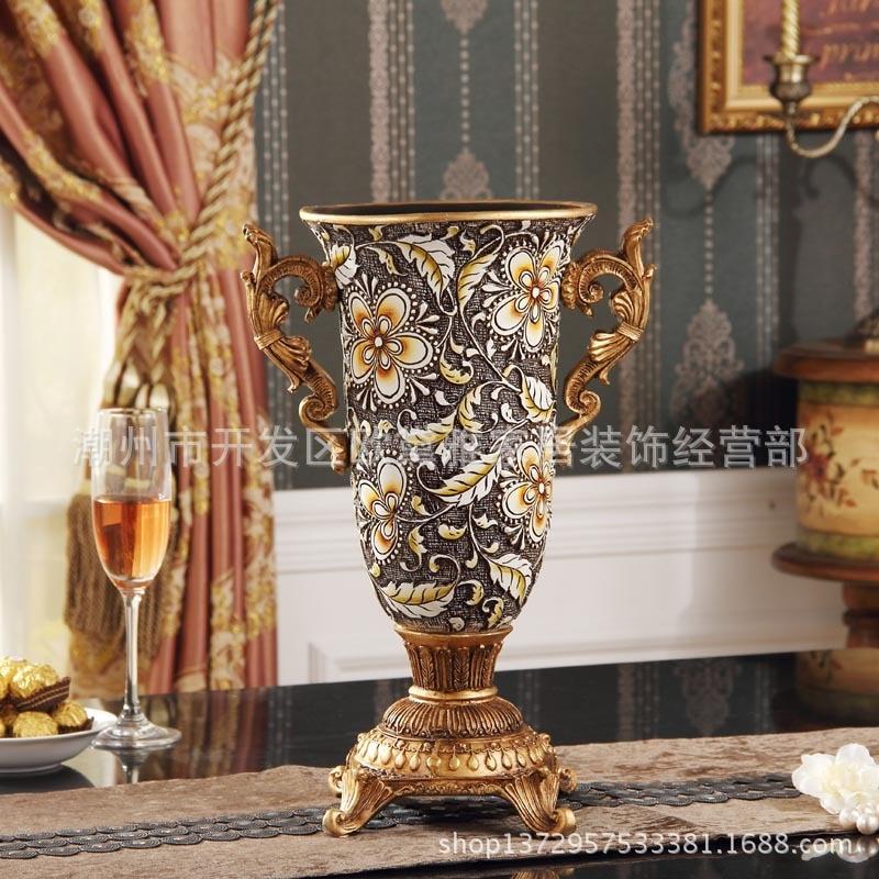 antique vase Living room decorative vase new resin sculpture luxurious classic decorations