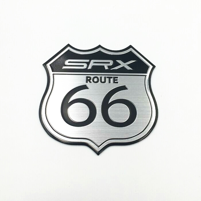 Aluminum Srx Route 66 Us Car Badge Emblem Sticker Decal Fit For