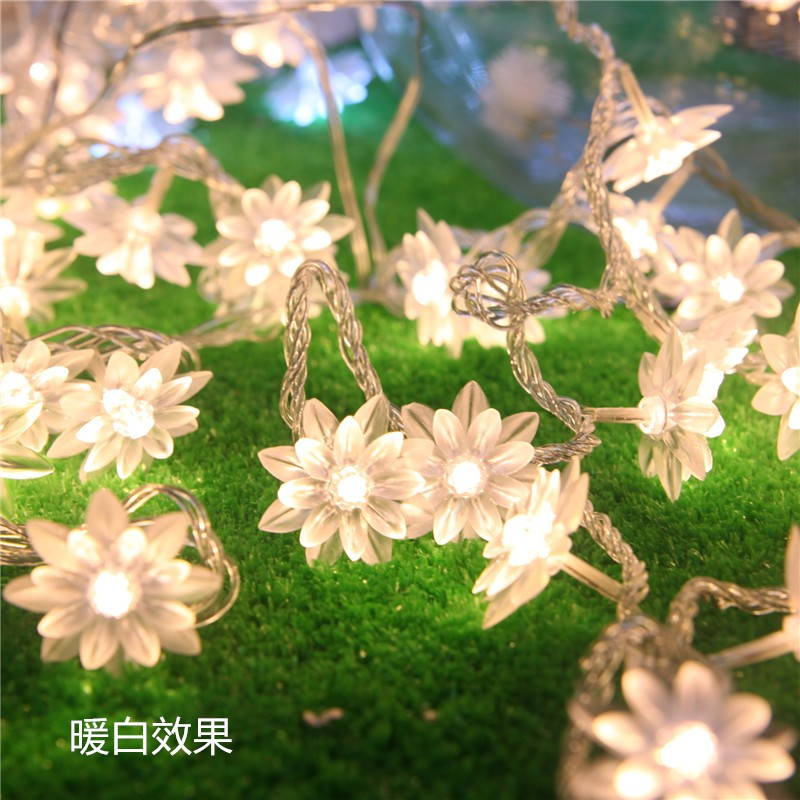 5M 28LED pen Lotus Flower String lyser ferie belysning for - Ferie belysning - Bilde 1