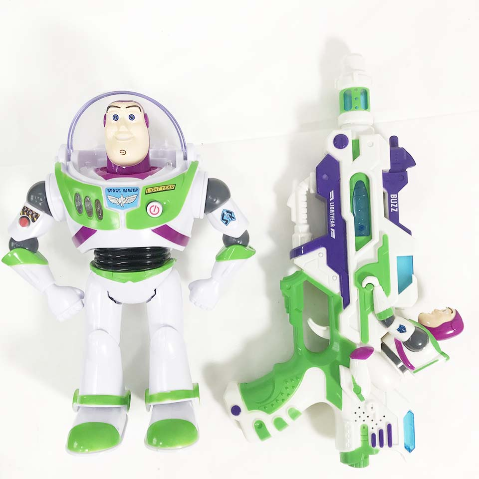 2019 Hot Toy Story 4 Buzz Lightyear Disney Toys Lights Voices Speak English Anime Action Figures Toy Movable Children Birthday G image