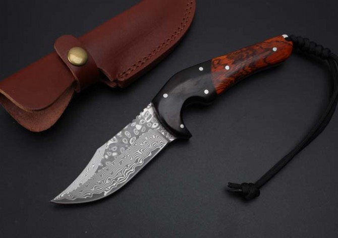 Collection Damascus Hunting Fixed Knives,Rosewood Handle Camping Survival Knife,Rescue Knife. цена 2017