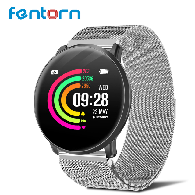 Fentorn LT03 Smart Watch 2.5D Tempered Glass Replacement Strap Multi-sports Mode Heart Rate Monitor smartwatch for IOS Android