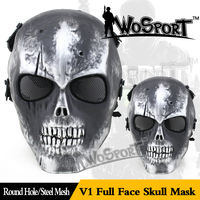 WOSPORT Outdoor Airsoft Paintball Mask Military Equipment Army Horror Tacitcal Full Face Skull Ghost Halloween party Movie prop