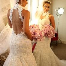 2016 Designer Romantic Backless Mermaid Wedding Dresses