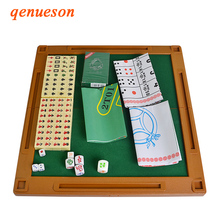 6 In 1 Mahjong Portable Folding Plastic Boxes Majiang Set Table Game Mah-jong Poker Travelling Indoor Entertainments Board Games