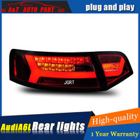 Car styling Accessories for Au di A6L rear Lights 2009 2012 led TailLight for A6L Rear Lamp DRL+Brake+Park+Signal lights led