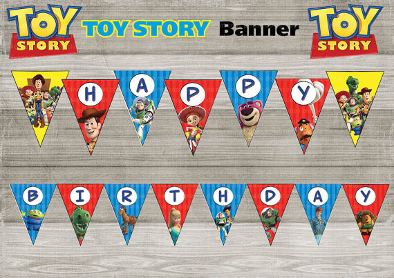 Toy Story Banner Baby Shower Birthday Party Decorations Kids Event Supplies