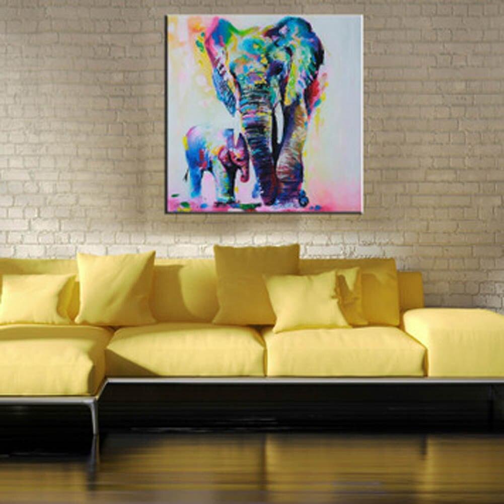 Watercolor Elephant Inkjet Frameless Canvas Art Paintings Oil ...
