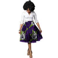 2019 African Women Clothing The New Fashion Ankara Hot Style Of Tall Waist Abstract Flower Skirts Printed Clothing Customized