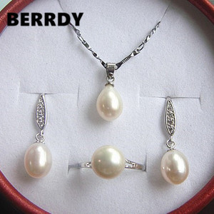 Natural Pearl Jewelry Set Hot
