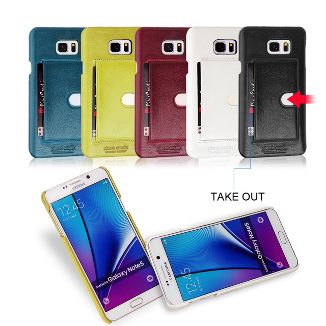 sports shoes 98b45 e4722 US $26.3 |Vintage Pierre Cardin Retro Funda Card Slot Back Cover Case For  Samsung Note 5 Phone Cover Case on Aliexpress.com | Alibaba Group
