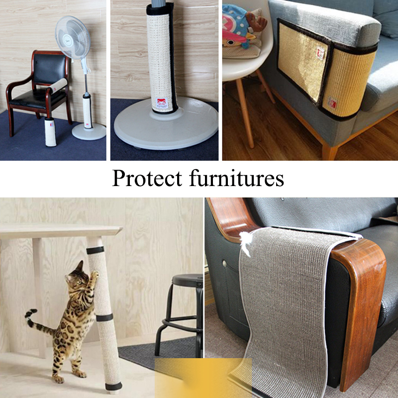 Furniture Protect Cat Kitten Scratch Board Pad Sisal Scratcher Mat Claws Care Cat Toy Product Sofa Scratching Post Protect