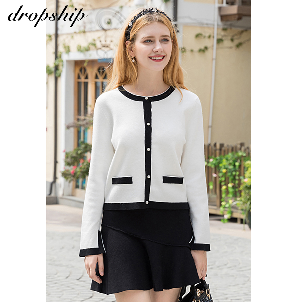 Dropship Sweater Cardigans Women Sweaters Cashmere Coat Winter 2019 Sueter Mujer Invierno Autumn Vintage Button Fly Long Sleeve