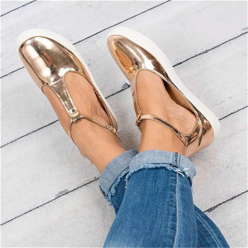 MoneRffi 2019 zapatos casuales de mujer zapatos de cuero Real mocasines madre mocasines zapatos de ocio suave calzado de Ballet de conducción femenina