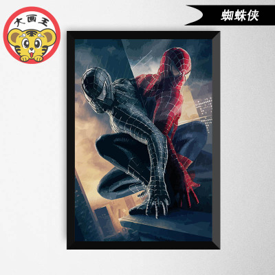 painting by numbers art paint by number batman Captain America flash Iron man spider-man the film Hulk Superman Celebrity diy