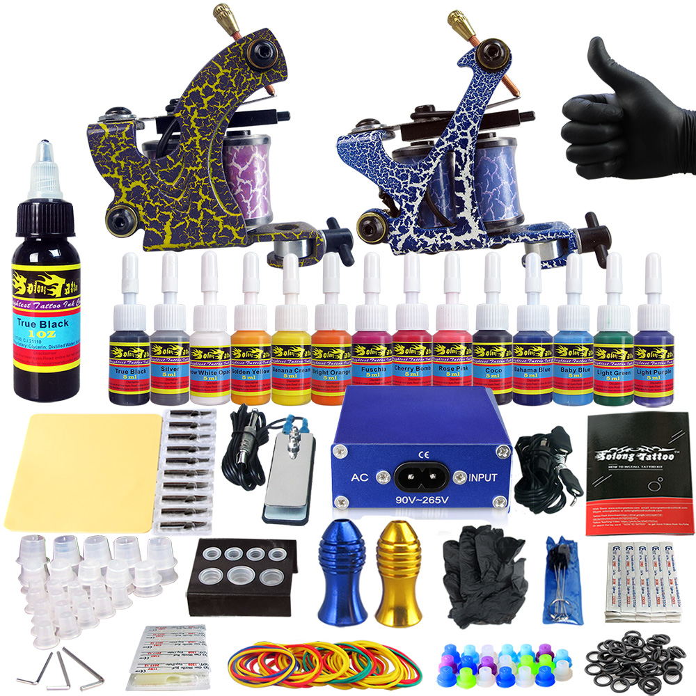 2018 New Designed Solong Tattoo Professional Sets Tattoo Machine Kit for Starter Kit 2 Machine Liner&Shader TK203 36-in Tattoo Kits from Beauty & Health on Aliexpress.com | Alibaba Group