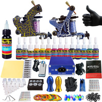 2018 New Designed Solong Tattoo Professional Sets Tattoo Machine Kit for Starter Kit 2 Machine Liner&Shader TK203 36