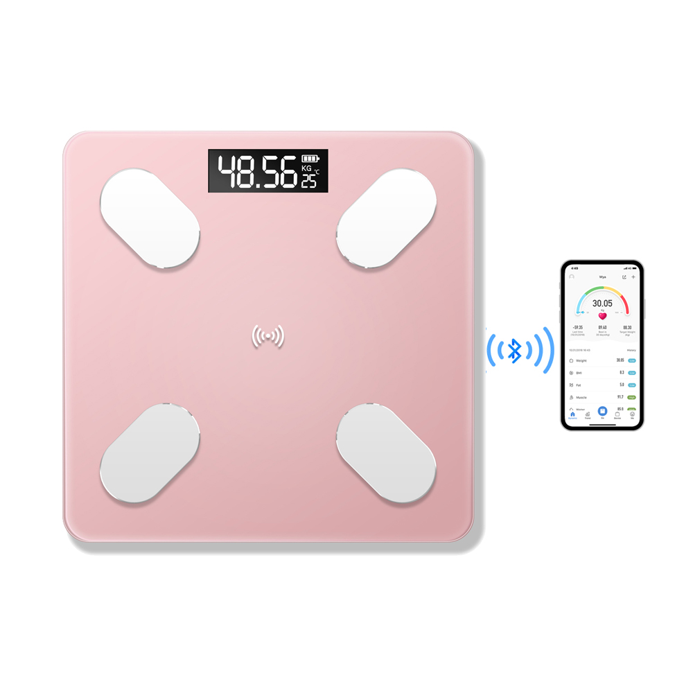 Balance Smart Scales Broadcast Voice Floor Weight BT BT USB Digital Scale Electronic Rechargeable Scale Connection Data