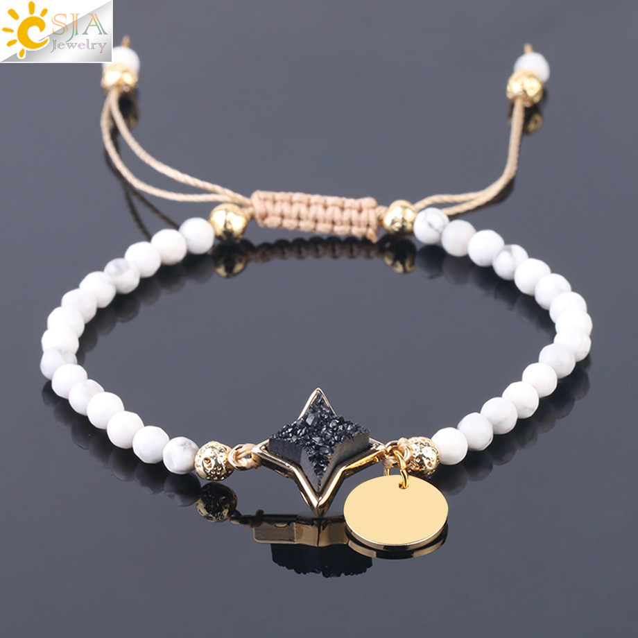 5054415bab968 Detail Feedback Questions about CSJA 4mm Small Beads Bracelet White ...