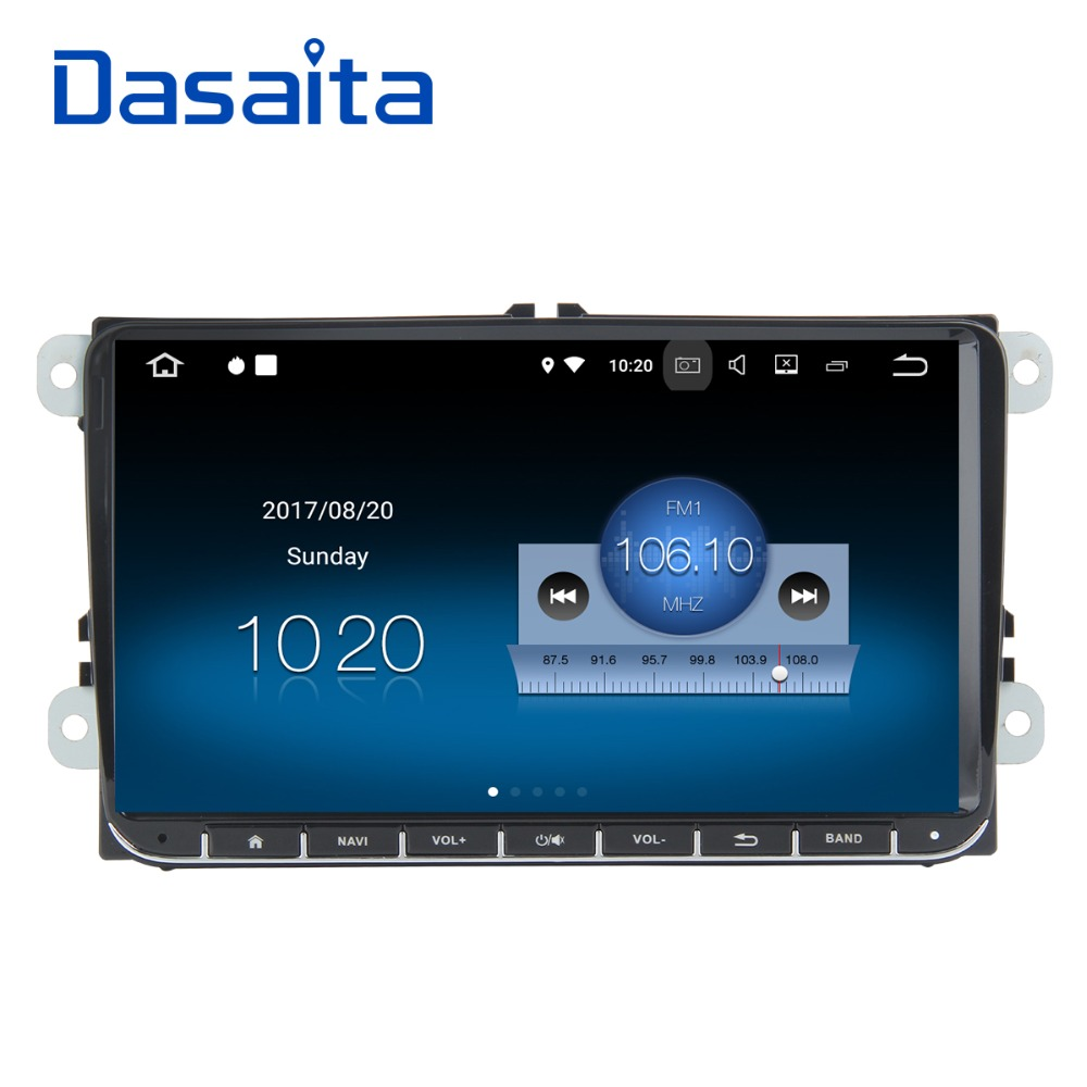 """Dasaita 9"""" Android 8.1 Car GPS Player Navi for Golf 5 6 for Polo for Passat for Tiguan for Jetta with 2G+16G Quad Core No DVD-in Car Multimedia Player from Automobiles & Motorcycles    1"""