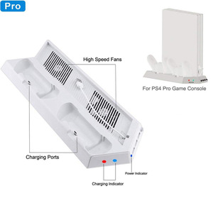 Image 2 - White Cooler Fan,Vertical Cooling Stand Dual Controllers Charging Dock USB Hub for Playstation 4 Pro PS4 PRO Console Showcase V2
