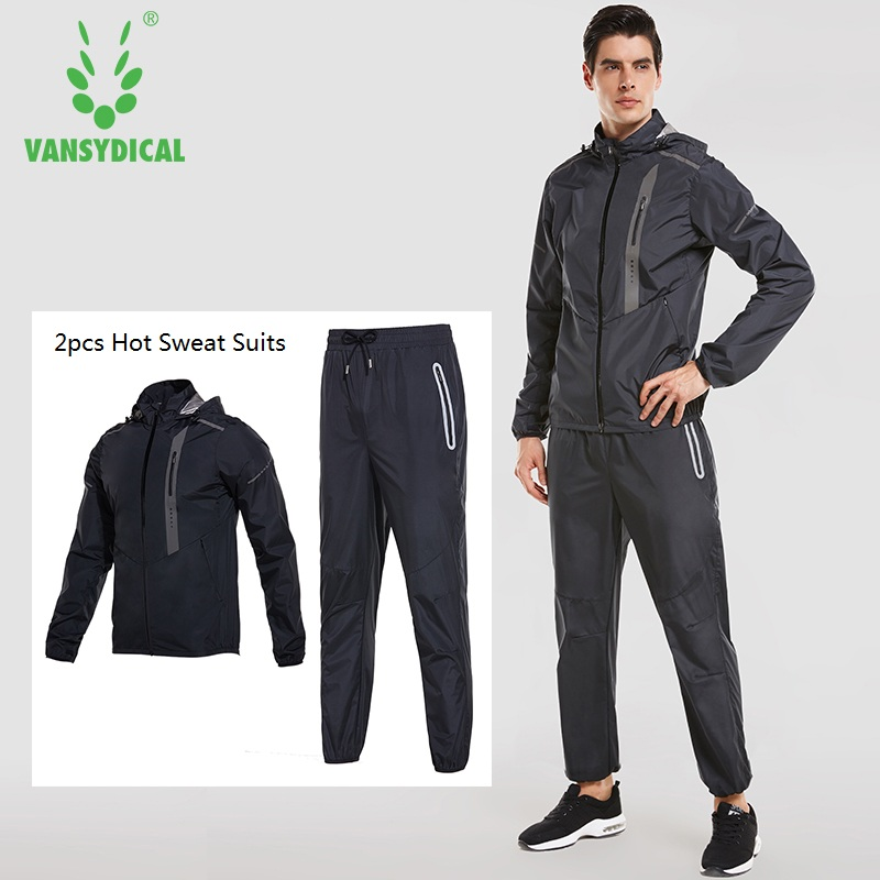Mens Quick Sweating Sports Suits Running Hooded Jacket Pant Sets Fitness Gym Clothes 2 pcs Training Jogger Suits