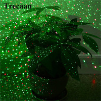 Trecaan Outdoor Moving Full Sky Star Laser Projector Landscape Lamp Green&Red LED Stage Light Outdoor Lawn Garden Light