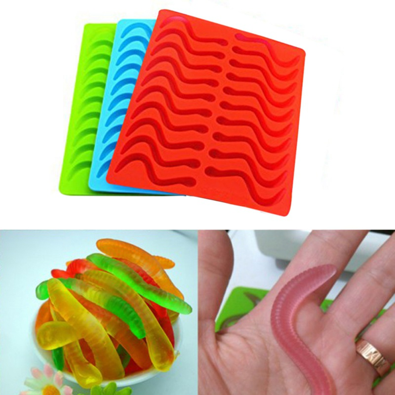 Bakeware Dropper Useful Kitchen Supplies Snakes Shape Cake Molds Decor Good Taste Diy Candy Mould Silicone Rubber Chocolate/eraser Candy Mold